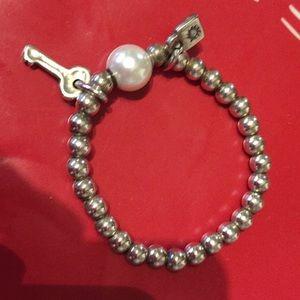 Uno de 50 bracelet silver/ pearl